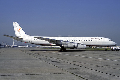 Zambia Airways (Nationair) McDonnell Douglas DC-8-62 C-GMXY (msn 45920) LBG (Christian Volpati). Image: 925890.
