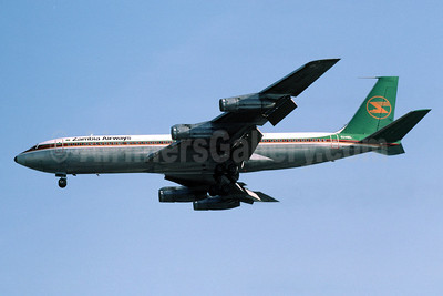 Zambia Airways Boeing 707-338C 9J-AEL (msn 19295) LHR (Richard Vandervord). Image: 901807.