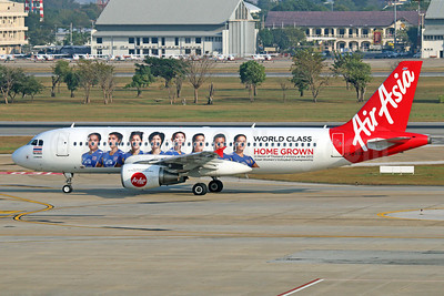 AirAsia (Thai AirAsia) Airbus A320-216 HS-ABC (msn 3338) (World Class - Home Grown - In Honor of Thailand's Victory at the 2013 Asia Women's Volleyball Championship) DMK (Michael B. Ing). Image: 921844.