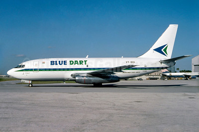 Blue Dart Aviation Boeing 737-2T4C VT-BDI (msn 23272) MIA (Bruce Drum). Image: 103422.