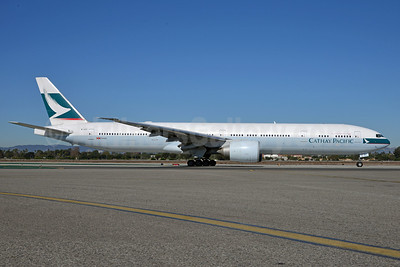 Cathay Pacific Airways Boeing 777-367 ER B-KPI (msn 36833) LAX (Roy Lock). Image: 911294.