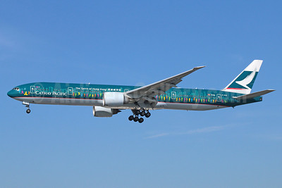 Cathay Pacific Airways Boeing 777-367 ER B-KPB (msn 35299) (The Spirit of Hong Kong) LAX (Michael B. Ing). Image: 922176.