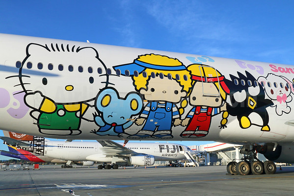 EVA Air Boeing 777-35E ER B-16703 (msn 32643) (Hello Kitty - Sanrio Family) LAX. Image: 921273.