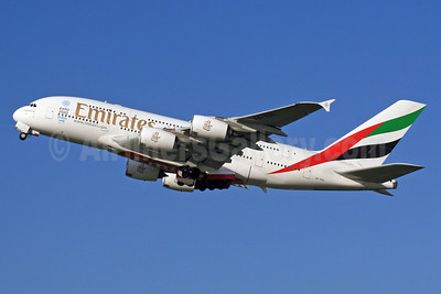 Emirates Airline Airbus A380-861 A6-EDL (msn 046) LHR (SPA). Image: 926047.