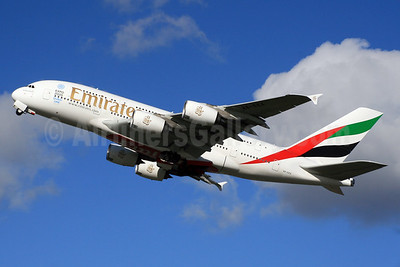 Emirates Airline Airbus A380-861 A6-EEX (msn 154) (Expo 2020 Dubai UAE) LHR (SPA). Image: 926618.