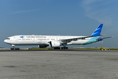 Garuda Indonesia Airways Boeing 777-3U3 ER PK-GIF (msn 29148) AMS (Ton Jochems). Image: 923800.