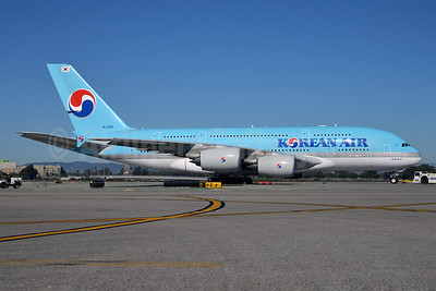 Korean Air Airbus A380-861 HL7614 (msn 068) LAX (Roy Lock). Image: 912450.
