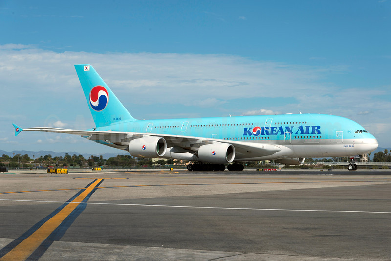 Korean Air Airbus A380-861 HL7619 (msn 096) LAX (Roy Lock). Image: 913552.