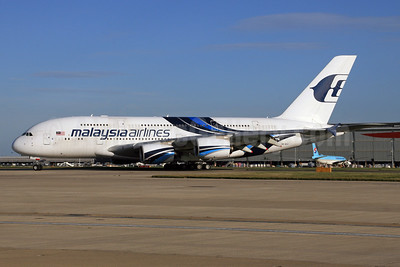 Malaysia Airlines Airbus A380-841 9M-MND (msn 089) LHR. Image: 928044.
