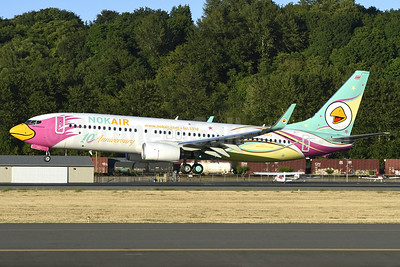 Nok Air's 10th Anniversary Boeing 737-800 logo jet