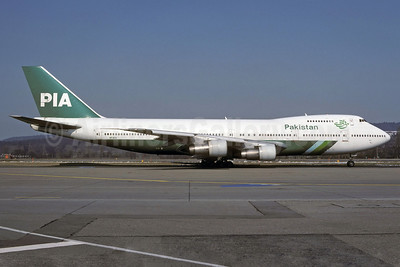 PIA-Pakistan International Airlines Boeing 747-217B AP-BCO (msn 20927) ZRH (Rolf Wallner). Image: 920941.