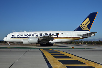 Singapore Airlines Airbus A380-841 9V-SKK (msn 051) LAX (Roy Lock). Image: 910615.