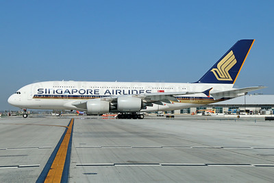Singapore Airlines Airbus A380-841 9V-SKP (msn 076) LAX. Image: 923660.