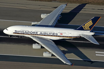 Singapore Airlines Airbus A380-841 9V-SKR (msn 082) LAX (Rob Finlayson). Image: 925592.