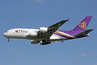 Thai Airways International Airbus A380-841 HS-TUD (msn 122) BKK (Michael B. Ing). Image: 923695.