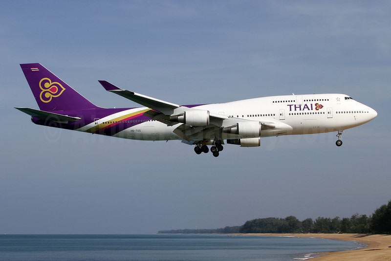 Thai Airways International Boeing 747-4D7 HS-TGG (msn 33771) HKT (Wim Callaert). Image: 905886.