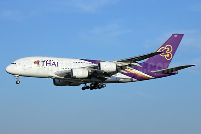 Thai Airways International Airbus A380-841 HS-TUC (msn 100) NRT (Michael B. Ing). Image: 923694.