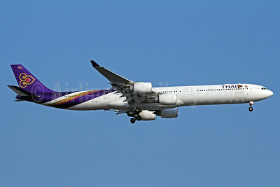 Thai Airways International Airbus A340-642 HS-TNB (msn 681) BKK (Michael B. Ing). Image: 923691.