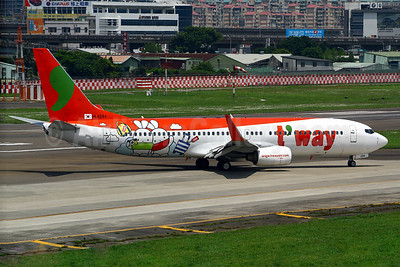 """t'way's """"Travel with Booto"""" logo jet"""