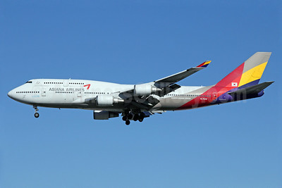 Asiana Airlines Boeing 747-48E HL7428 (msn 28552) LAX (Michael B. Ing). Image: 910887.