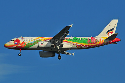 Bangkok Air (Bangkok Airways) Airbus A320-214 HS-PGU (msn 2254) (Guilin) BKK (Ken Petersen). Image: 910437.