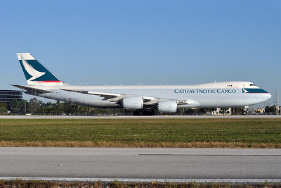 Cathay Pacific Airways Cargo Boeing 747-867F B-LJJ (msn 39246) MIA (Tony Storck). Image: 910645.