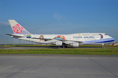 China Airlines Boeing 747-409 B-18211 (msn 33735) (Jimmy - Love and Hug) FRA (Bernhard Ross). Image: 912590.