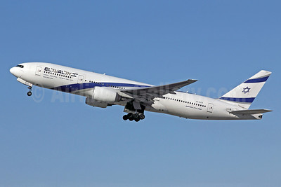 El Al Israel Airlines Boeing 777-258 ER 4X-ECD (msn 33169) LAX (Michael B. Ing). Image: 908087.
