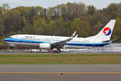 Hebei Airlines Boeing 737-85C WL B-5753 (msn 39331) BFI (Rick Schlamp). Image: 912362.