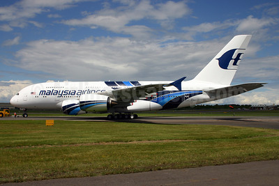 Malaysia Airlines Airbus A380-841 F-WWAJ (9M-MNB) (msn 081) FAB (Terry Wade). Image: 908844.