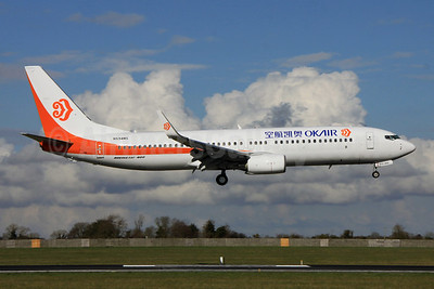 OKAir (Okay Airways Company) Boeing 737-8AS WL N594MS (B-5577) (msn 33557) DUB (Paul Doyle). Image: 909863.