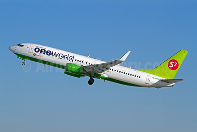 S7 Airlines (Sibiria Airlines) Boeing 737-8ZS VQ-BKW (msn 37085) (Oneworld) DME (OSDU). Image: 907751.