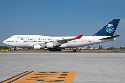 Saudi Arabian Airlines (Pullmantur Air) Boeing 747-4H6 EC-KXN (msn 25703) BLQ (Lucio Alfieri). Image: 909319.