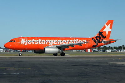 Jetstar Airways' 10th Anniversary logo jet