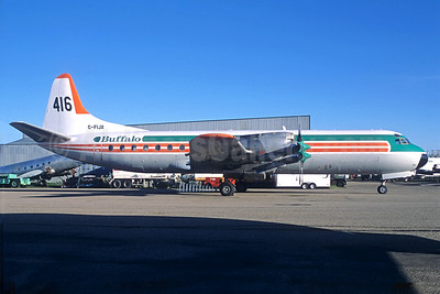 """Buffalo Airways (Canada) Lockheed 188C Electra Tanker C-FIJX (msn 2010) """"416"""" YZF (Jacques Guillem Collection). Image: 928350."""