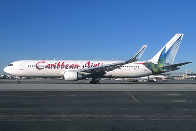 Caribbean Airlines Boeing 767-316 ER WL 9Y-LHR (msn 27597) LGW (Jacques Guillem Collection). Image: 921349.