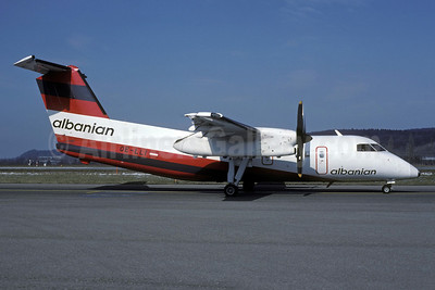 Albanian Airlines (Tyrolean Airways) Bombardier DHC-8-102 Dash 8 OE-LLI (msn 243) (Tyrolean Airways colors) ZRH (Rolf Wallner). Image: 921244.