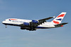 British Airways Airbus A380-841 G-XLEB (msn 121) LHR (Karl Cornil). Image: 920237.