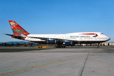 British Airways Boeing 747-436 G-BNLS (msn 24629) (Wanula Dreaming) LAX (Roy Lock). Image: 912952.