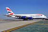British Airways Airbus A380-841 G-XLEB (msn 121) LAX (Ton Jochems). Image: 921119.
