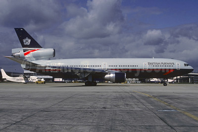 British Airways McDonnell Douglas DC-10-30 G-BEBL (msn 46949) LGW (Christian Volpati Collection). Image: 921229.