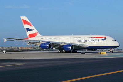 British Airways Airbus A380-841 G-XLEE  (msn 148) LAX. Image: 923016.