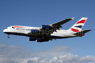 British Airways Airbus A380-841 G-XLEI (msn 173) LHR (SPA). Image: 927009.