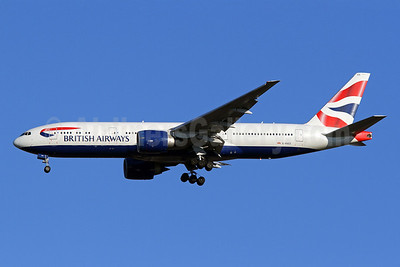 British Airways Boeing 777-236 ER G-RAES (msn 27491) IAD (Brian McDonough). Image: 921437.