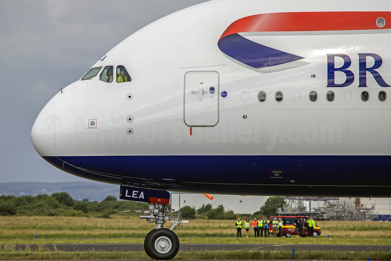 British Airways Airbus A380-841 G-XLEA (msn 095) SNN (SM Fitzwilliams Collection). Image: 913274.