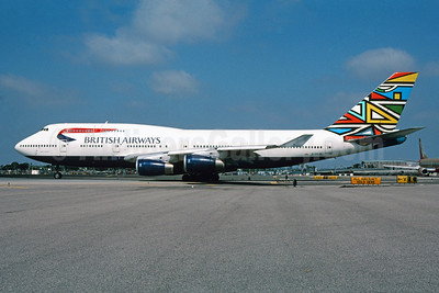 British Airways Boeing 747-436 G-BNLM (msn 24055) (Ndbele Emmly) LAX (Roy Lock). Image: 912951.