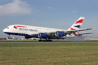 British Airways Airbus A380-841 G-XLEA (msn 095) LHR (Antony J. Best). Image: 922462.