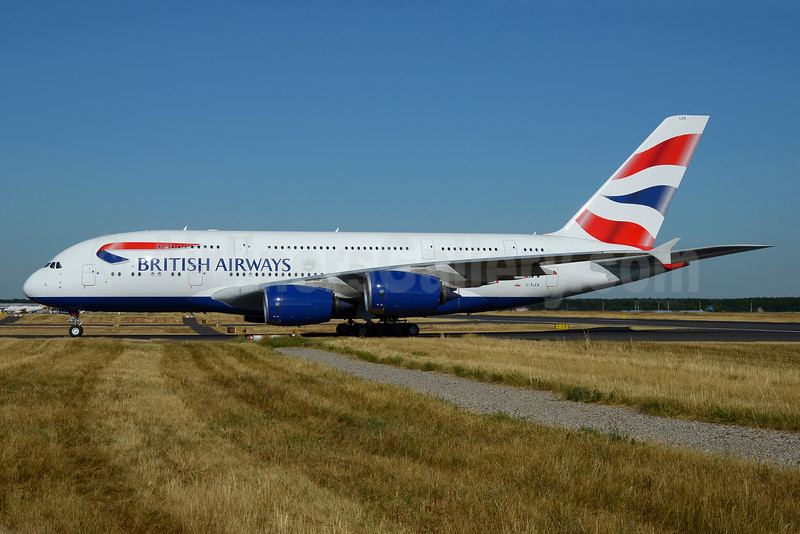 British Airways Airbus A380-841 G-XLEA (msn 095) FRA (Bernhard Ross). Image: 913184.