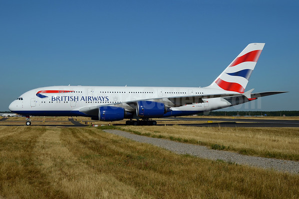 British Airways Airbus A380-841 G-XLEA (msn 095) FRA (Bernhard Ross). Image: 913184.