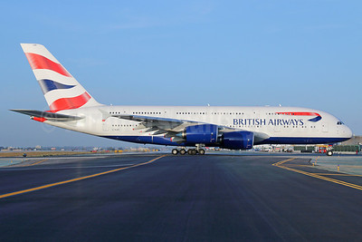 British Airways Airbus A380-841 G-XLEE  (msn 148) LAX. Image: 923015.